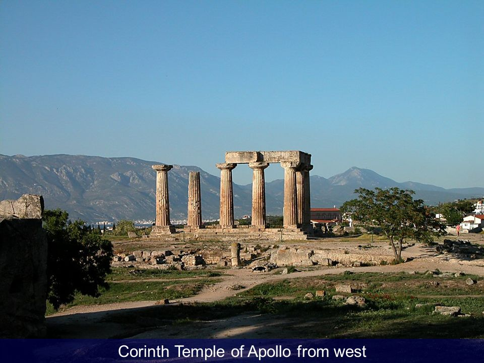 Corinth Temple of Apollo from west