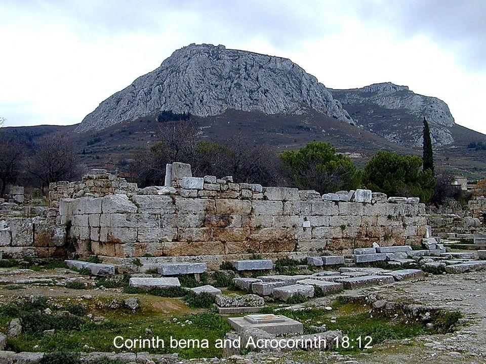 Corinth bema and Acrocorinth 18:12