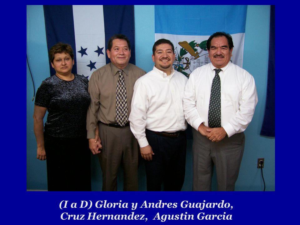 (I a D) Gloria y Andres Guajardo, Cruz Hernandez, Agustin Garcia