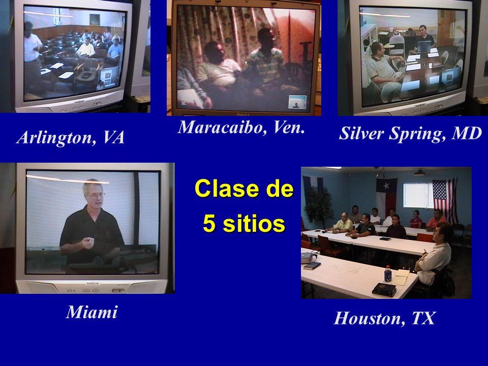 Clase de 5 sitios Miami Houston, TX Silver Spring, MD Maracaibo, Ven. Arlington, VA