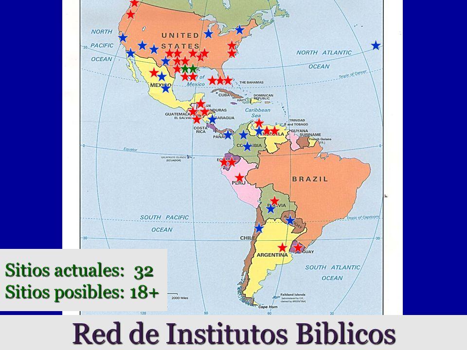 Red de Institutos Biblicos Sitios actuales: 32 Sitios posibles: 18+