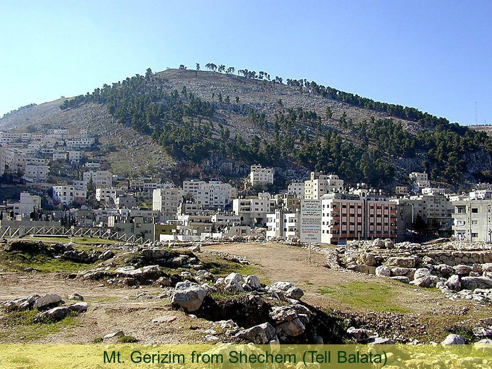 Mt. Gerizim from Shechem (Tell Balata)