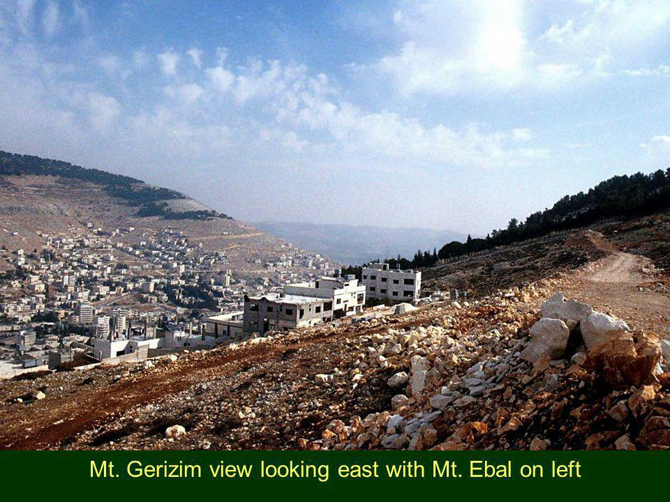 Mt. Gerizim view looking east with Mt. Ebal on left