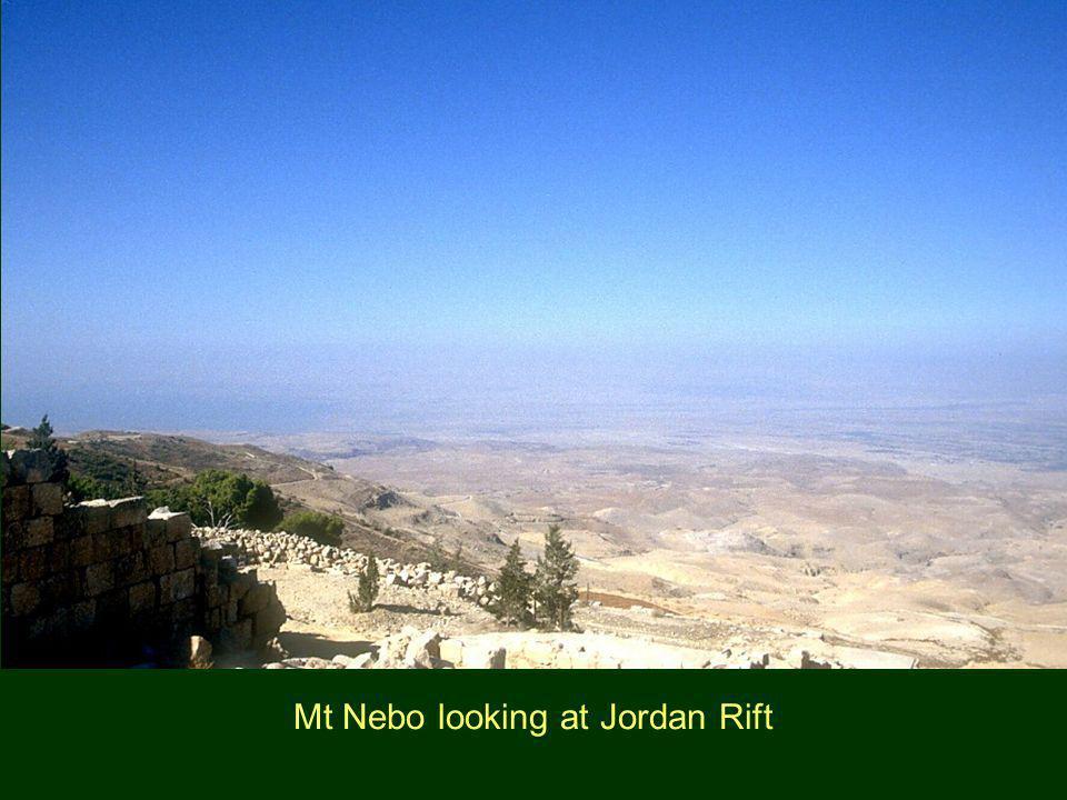 Mt Nebo looking at Jordan Rift