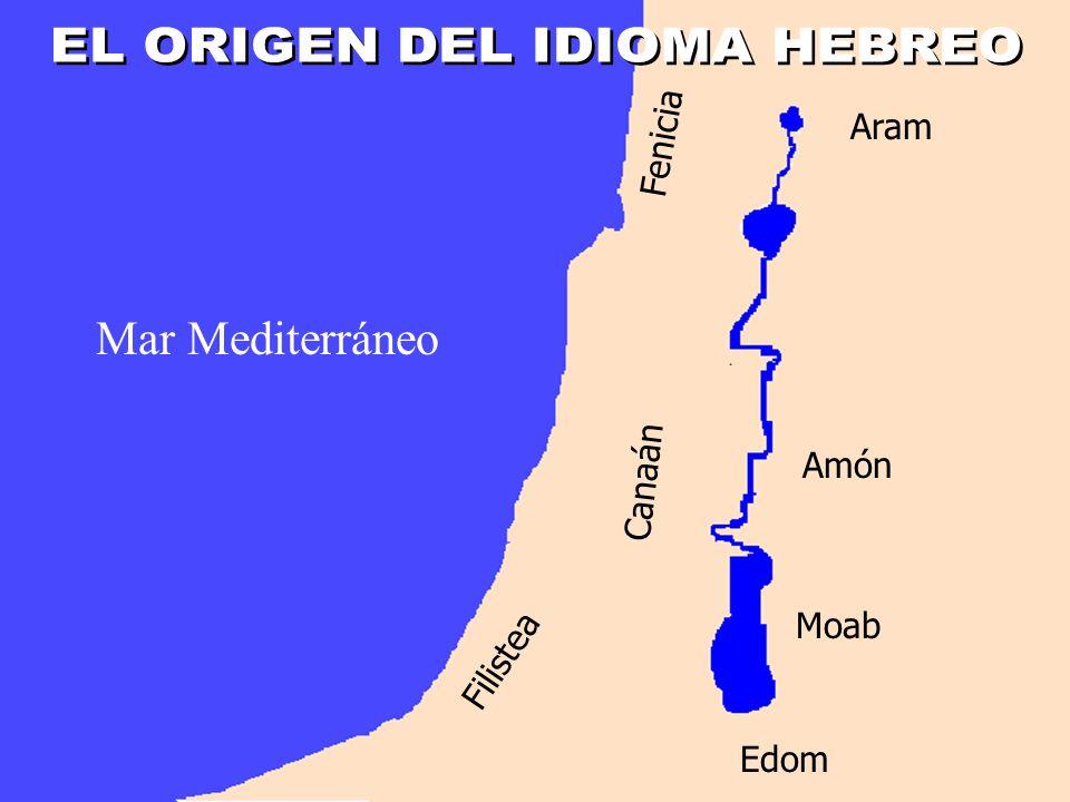 Mar Mediterráneo Moab Edom Amón Aram Canaán Filistea Fenicia