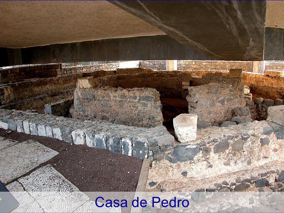 La casa de Pedro desde arriba, de la iglesia