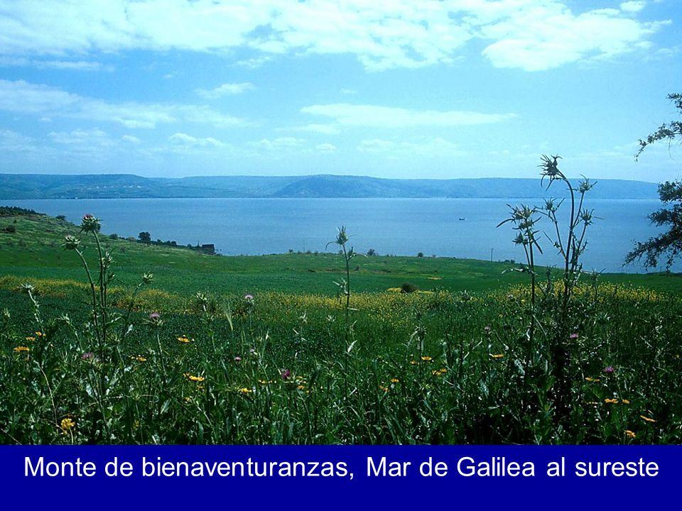 Monte de bienaventuranzas, Mar de Galilea al sureste