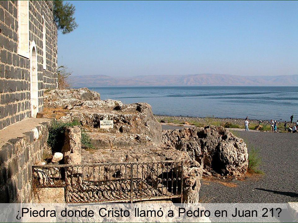 ¿ Piedra donde Cristo llamó a Pedro en Juan 21?