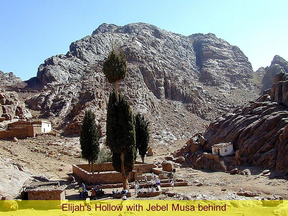 Elijahs Hollow with Jebel Musa behind