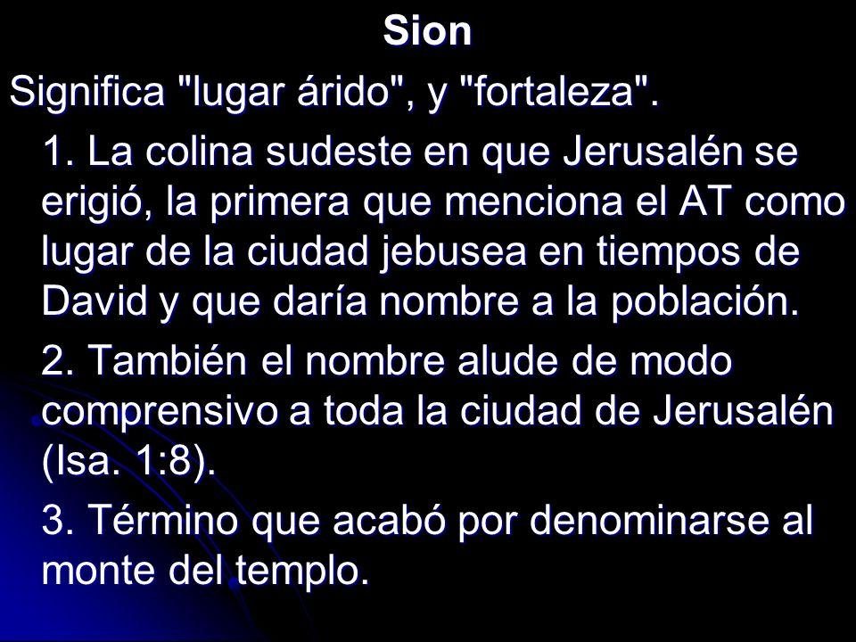 Sion Significa
