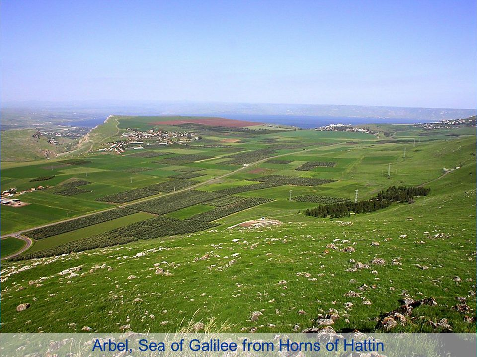 Arbel, Sea of Galilee from Horns of Hattin
