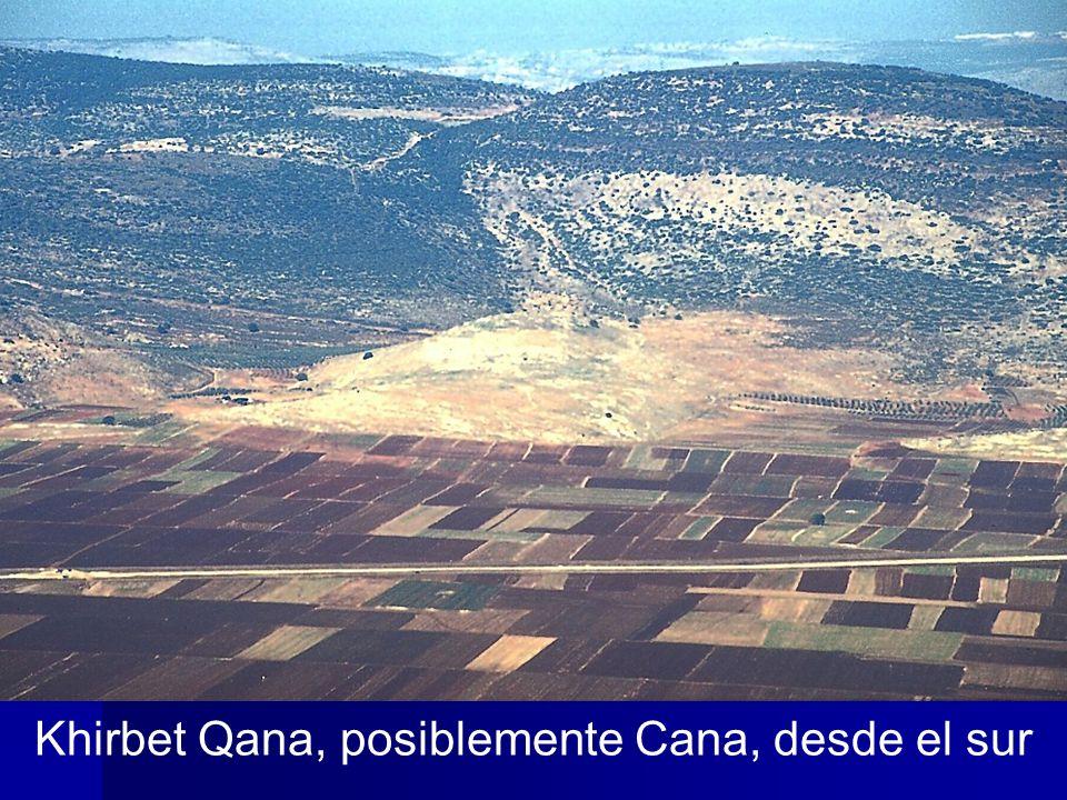 Khirbet Qana, posiblemente Cana, desde el sur