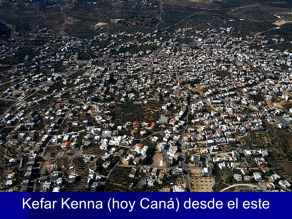 Kefar Kenna (hoy Caná) desde el este