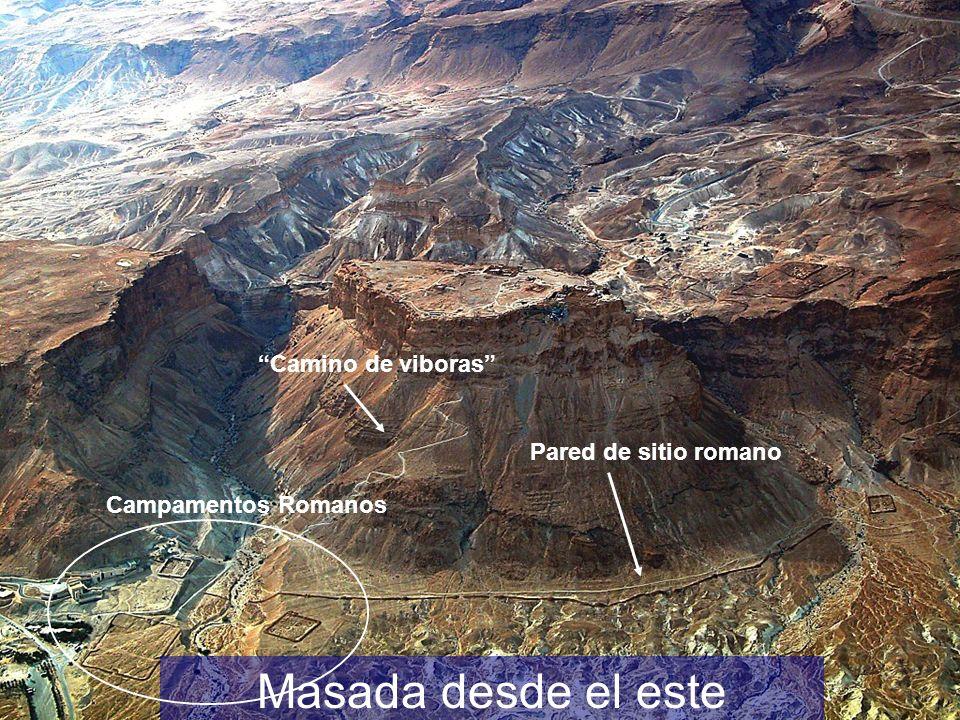 Masada desde el este Camino de viboras Pared de sitio romano Campamentos Romanos