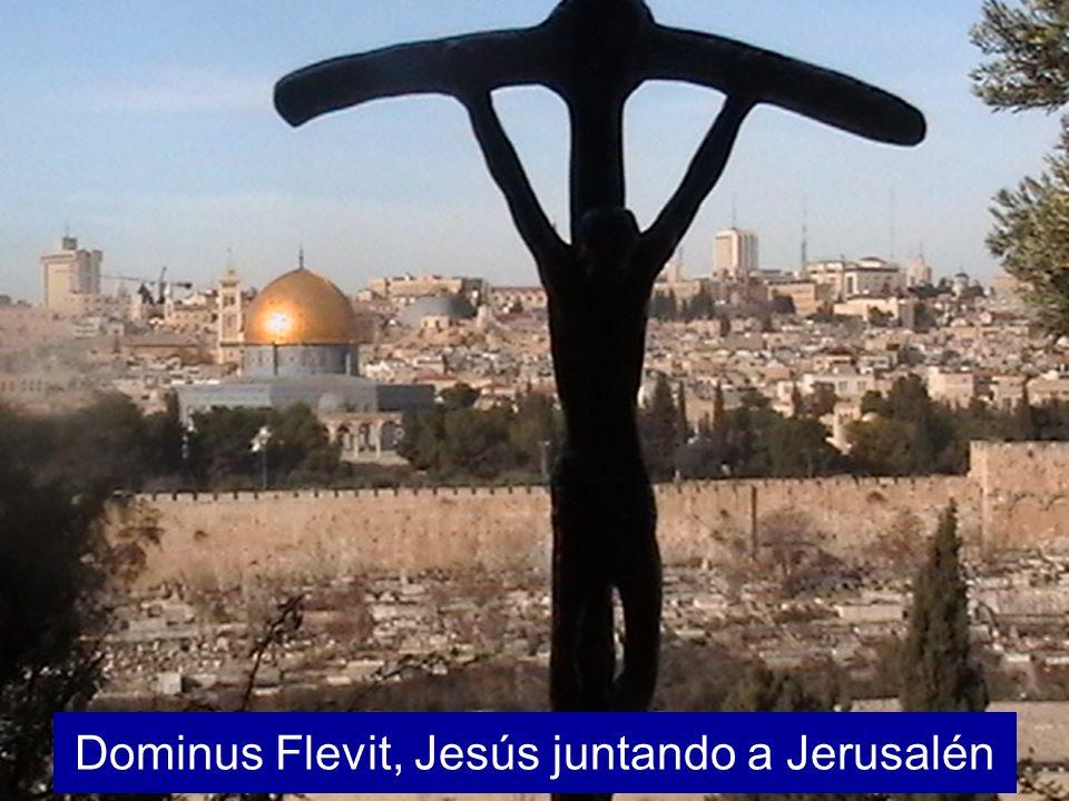Dominus Flevit, Jesús juntando a Jerusalén