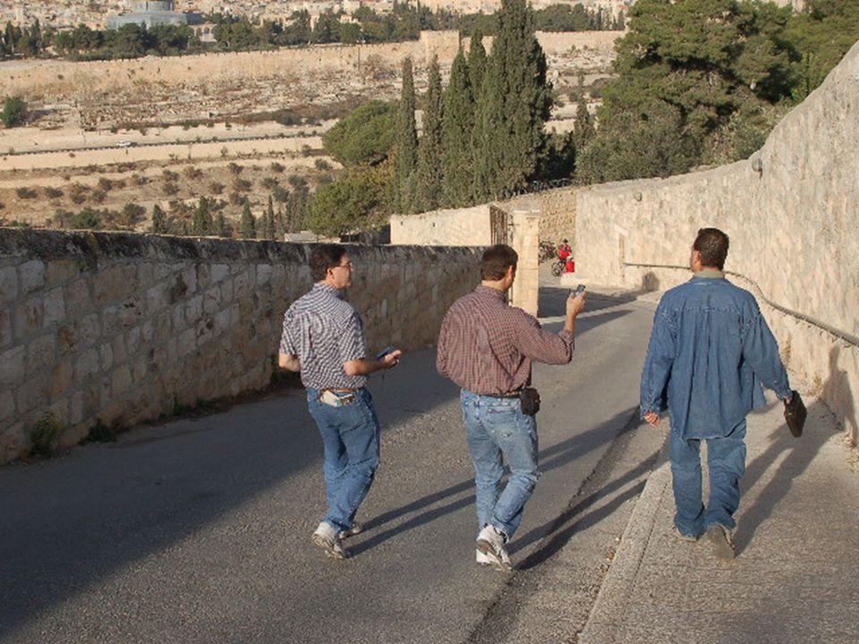 Viejo Jerusalén desde el Dominus Flevit, y cementerio musulman