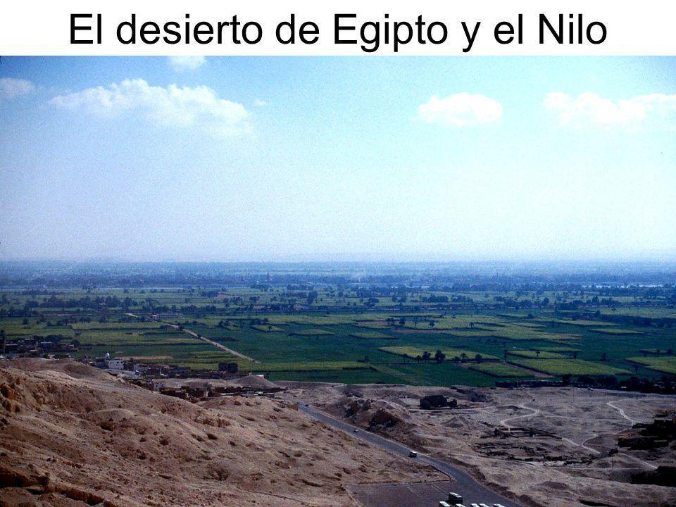 El desierto de Egipto y el Nilo