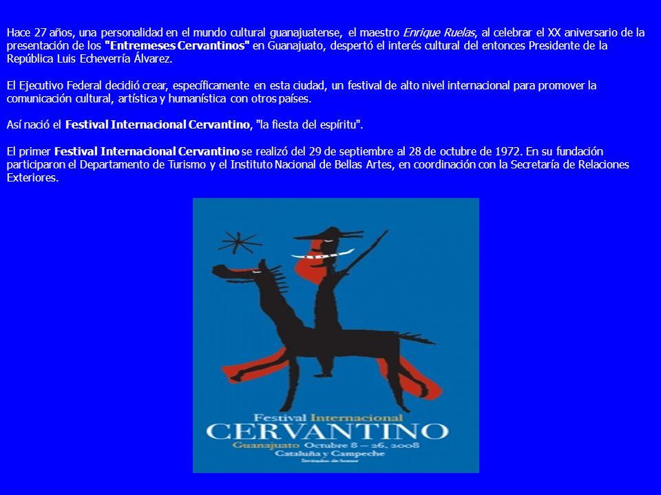 El Festival Internacional Cervantino es el acontecimiento artístico y cultural más importante de México y Latinoaméric Desde 1972, año de su creación,