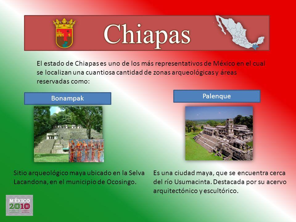 El estado de Chiapas es uno de los más representativos de México en el cual se localizan una cuantiosa cantidad de zonas arqueológicas y áreas reserva