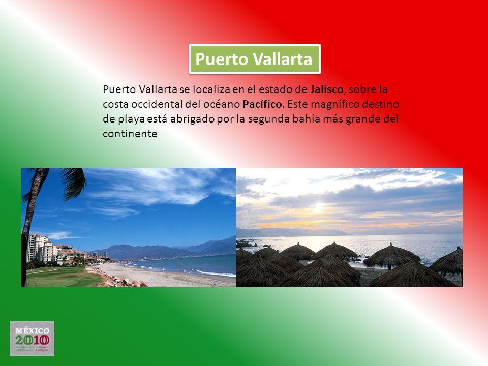 Puerto Vallarta Puerto Vallarta se localiza en el estado de Jalisco, sobre la costa occidental del océano Pacífico. Este magnífico destino de playa es
