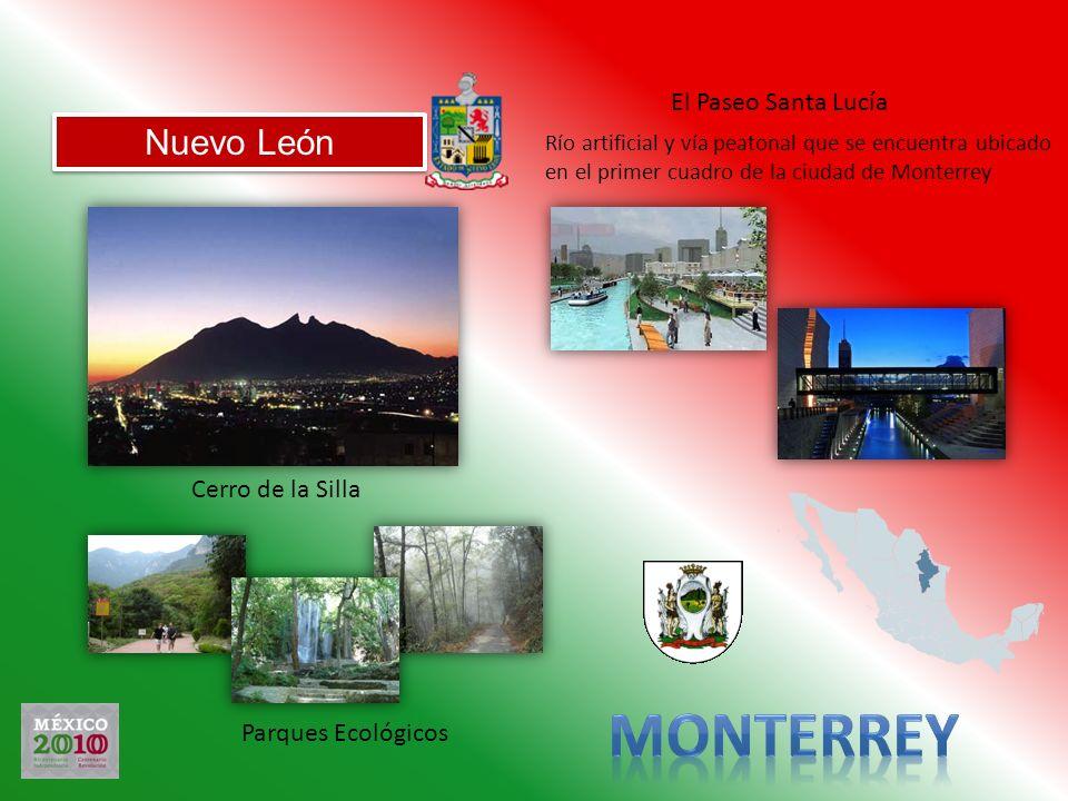 Nuevo León Cerro de la Silla El Paseo Santa Lucía Parques Ecológicos Río artificial y vía peatonal que se encuentra ubicado en el primer cuadro de la