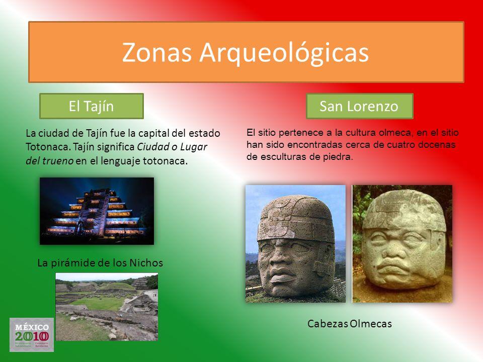 Zonas Arqueológicas La ciudad de Tajín fue la capital del estado Totonaca. Tajín significa Ciudad o Lugar del trueno en el lenguaje totonaca. La pirám