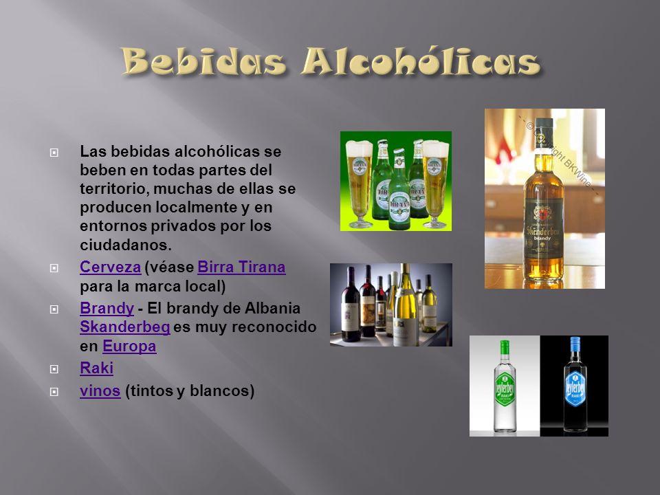 Las bebidas alcohólicas se beben en todas partes del territorio, muchas de ellas se producen localmente y en entornos privados por los ciudadanos. Cer