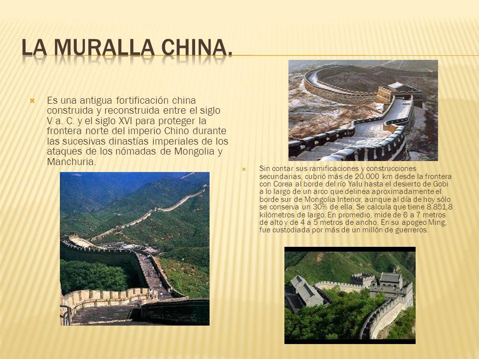 Es una antigua fortificación china construida y reconstruida entre el siglo V a. C. y el siglo XVI para proteger la frontera norte del imperio Chino d