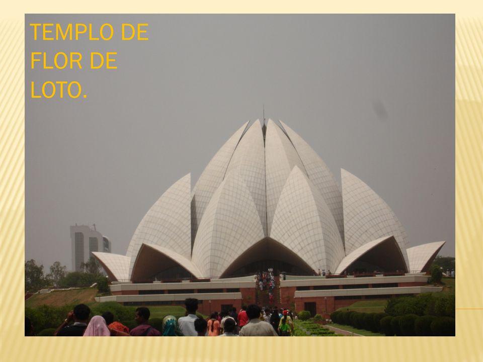 TEMPLO DE FLOR DE LOTO.