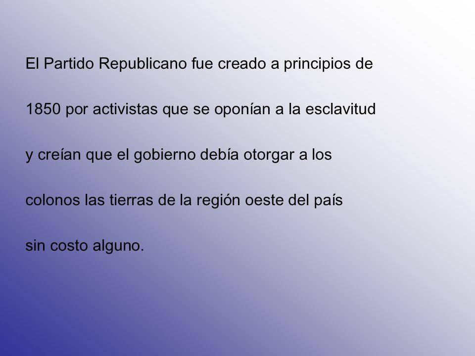 El Partido Republicano también es conocido como el Grand Old Party (el Gran Viejo Partido ) o por las siglas de éste apodo en inglés (GOP); desde 1874 su símbolo es un Elefante.