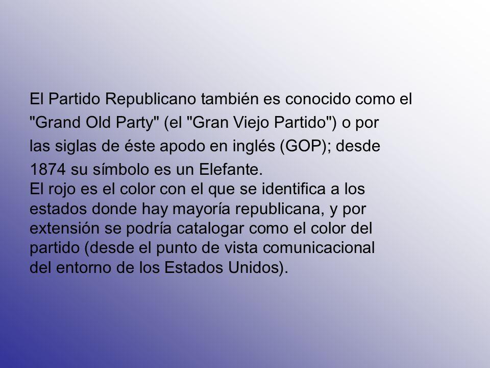 El Partido Republicano también es conocido como el