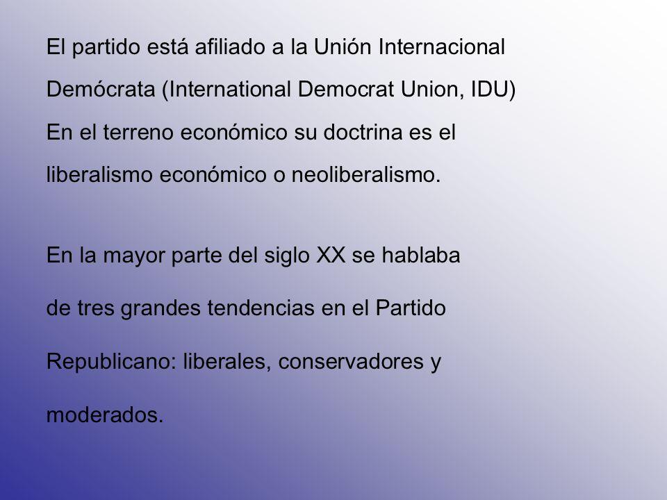 El partido está afiliado a la Unión Internacional Demócrata (International Democrat Union, IDU) En el terreno económico su doctrina es el liberalismo