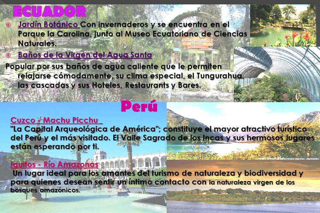 Jardín Botánico Con invernaderos y se encuentra en el Parque la Carolina, junto al Museo Ecuatoriano de Ciencias Naturales. Jardín Botánico Con invern