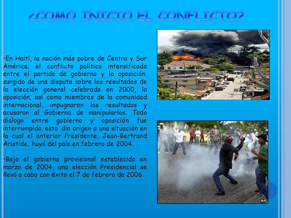 *Puerto Príncipe o Port-au-Prince es la Capital, situada en la bahía del mismo nombre, fue fundada por los franceses en 1749.