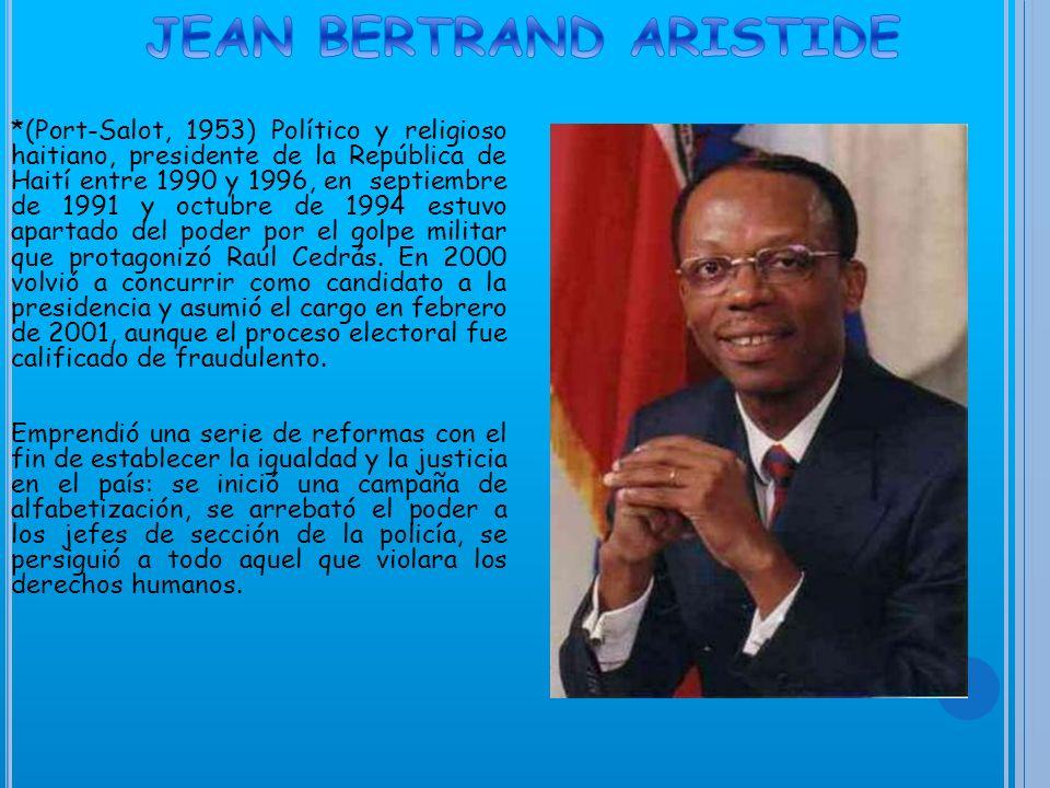 En Haití, la nación más pobre de Centro y Sur América, el conflicto político intensificado entre el partido de gobierno y la oposición, surgido de una disputa sobre los resultados de la elección general celebrada en 2000, la oposición, así como miembros de la comunidad internacional, impugnaron los resultados y acusaron al Gobierno de manipularlos.