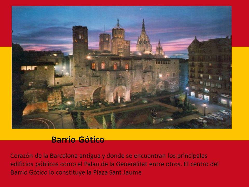 Barrio Gótico Corazón de la Barcelona antigua y donde se encuentran los principales edificios públicos como el Palau de la Generalitat entre otros. El