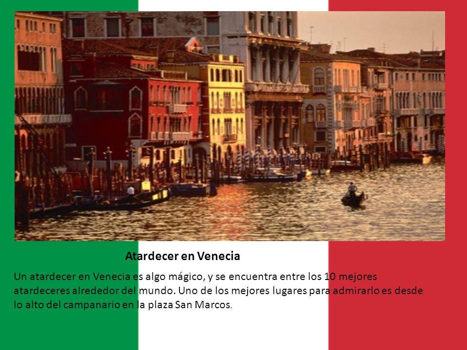 Atardecer en Venecia Un atardecer en Venecia es algo mágico, y se encuentra entre los 10 mejores atardeceres alrededor del mundo. Uno de los mejores l