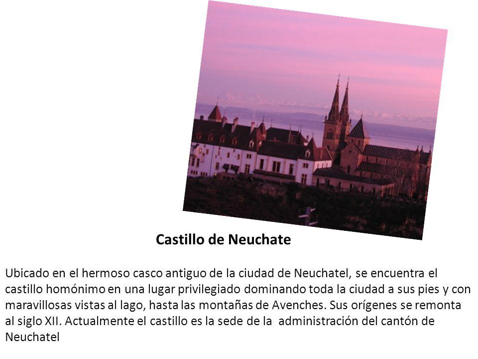 Castillo de Neuchate Ubicado en el hermoso casco antiguo de la ciudad de Neuchatel, se encuentra el castillo homónimo en una lugar privilegiado domina
