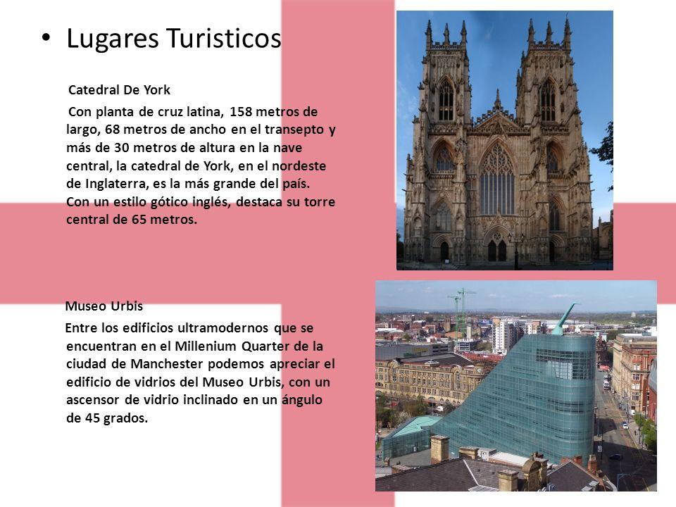 Lugares Turisticos Catedral De York Con planta de cruz latina, 158 metros de largo, 68 metros de ancho en el transepto y más de 30 metros de altura en