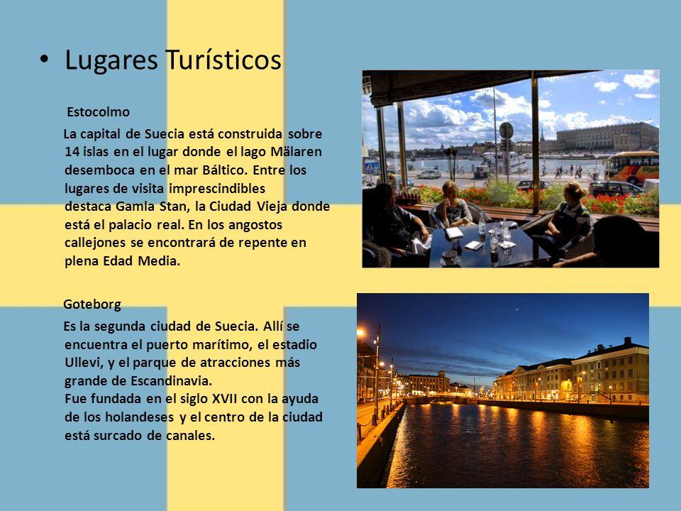 Lugares Turísticos Estocolmo La capital de Suecia está construida sobre 14 islas en el lugar donde el lago Mälaren desemboca en el mar Báltico. Entre