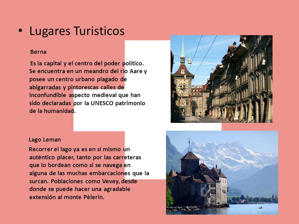 Lugares Turisticos Berna Es la capital y el centro del poder político. Se encuentra en un meandro del río Aare y posee un centro urbano plagado de abi