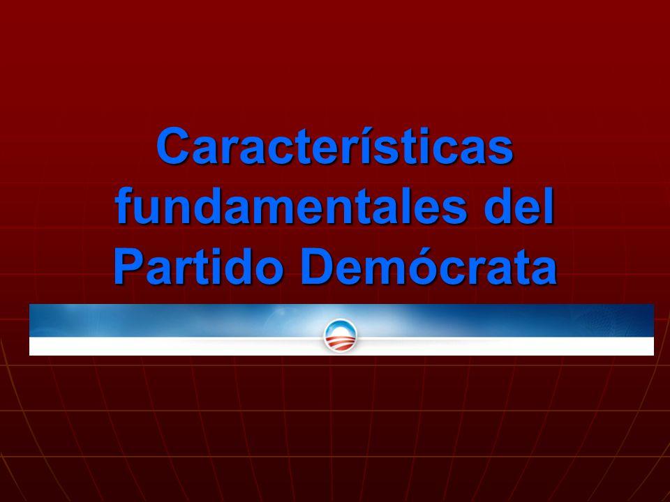 Características fundamentales del Partido Demócrata