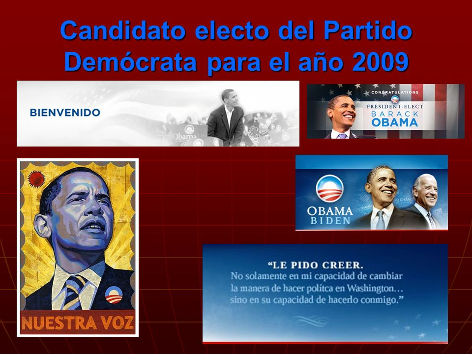 Bibliografía: http://www.democrats.org/a/e/nuestro_partido.ph http://www.democrats.org/a/e/nuestro_partido.ph http://www.esmas.com/noticierostelevisa/eleccioneseu2004/partid os/398378.html http://www.esmas.com/noticierostelevisa/eleccioneseu2004/partid os/398378.html http://mx.encarta.msn.com/encyclopedia_761561572/Partido_Dem %C3%B3crata.html http://mx.encarta.msn.com/encyclopedia_761561572/Partido_Dem %C3%B3crata.html http://mx.encarta.msn.com/encyclopedia_761561572/Partido_Dem %C3%B3crata.html http://mx.encarta.msn.com/encyclopedia_761561572/Partido_Dem %C3%B3crata.html Equipo 2: Diana Flores López Kathia Noancy Lobato Hernández Mario Alberto Ontiveros López Jose Miguel Rosas González Dora Villanueva Ortega FiN…FiN…FiN…FiN…
