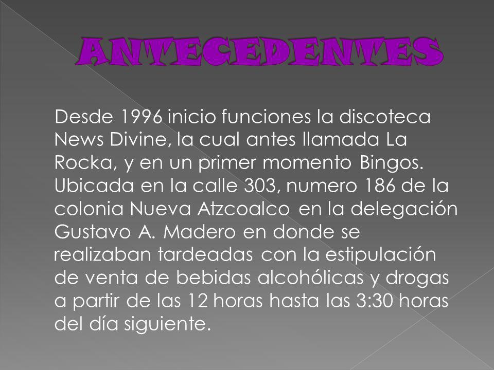 Desde 1996 inicio funciones la discoteca News Divine, la cual antes llamada La Rocka, y en un primer momento Bingos.