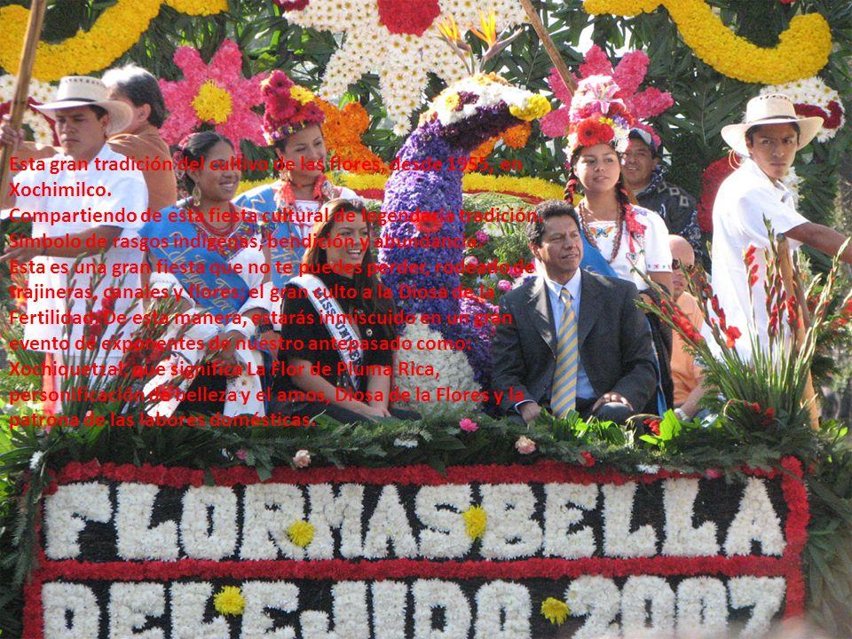 Esta gran tradición del cultivo de las flores, desde 1955, en Xochimilco.