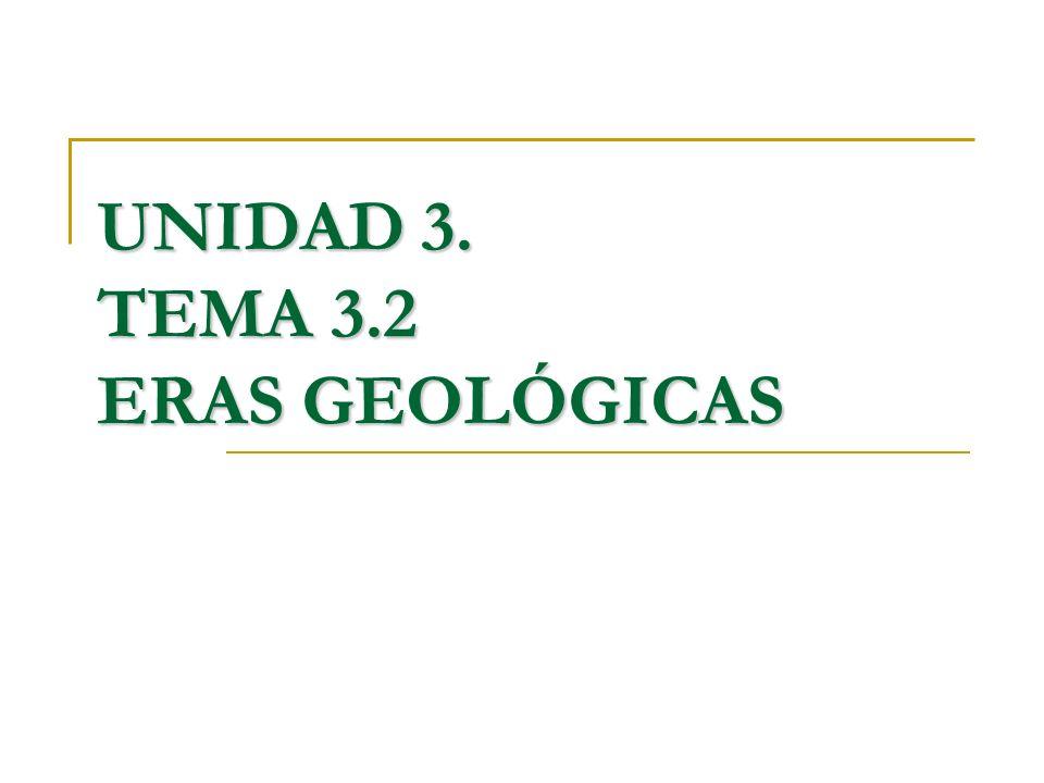 UNIDAD 3. TEMA 3.2 ERAS GEOLÓGICAS