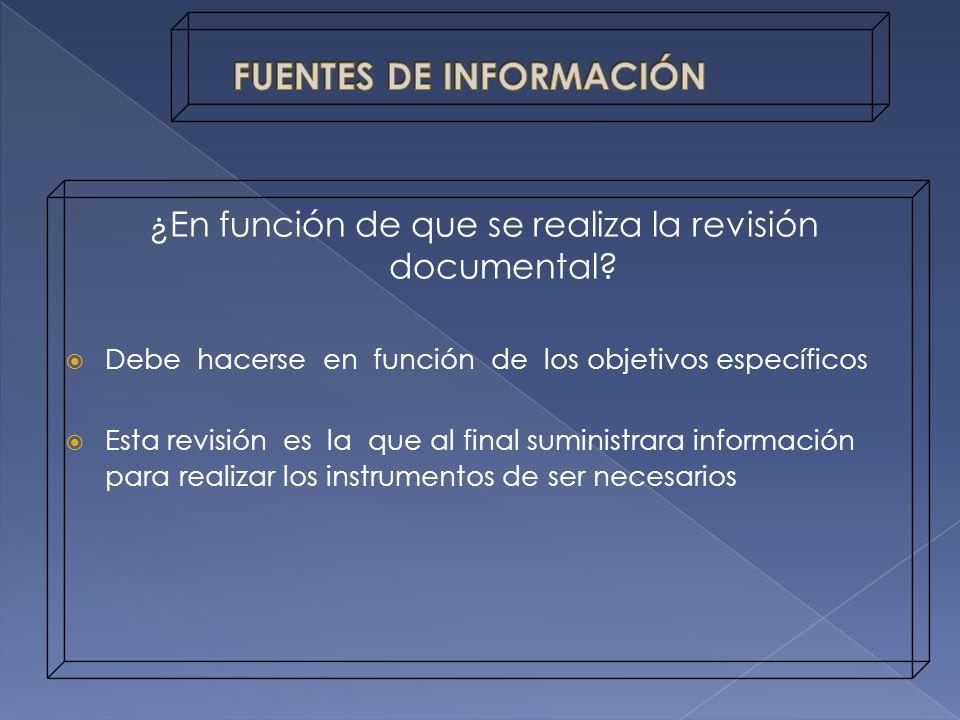 Fuentes Generales: Proporcionan un panorama sobre un tema dado y actúan como pista para encontrar información adicional.