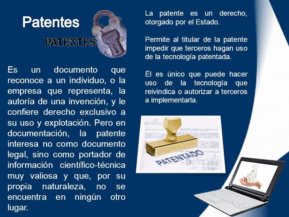 Es un documento que reconoce a un individuo, o la empresa que representa, la autoría de una invención, y le confiere derecho exclusivo a su uso y expl