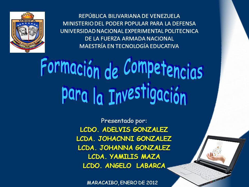 REPÚBLICA BILIVARIANA DE VENEZUELA MINISTERIO DEL PODER POPULAR PARA LA DEFENSA UNIVERSIDAD NACIONAL EXPERIMENTAL POLITECNICA DE LA FUERZA ARMADA NACI