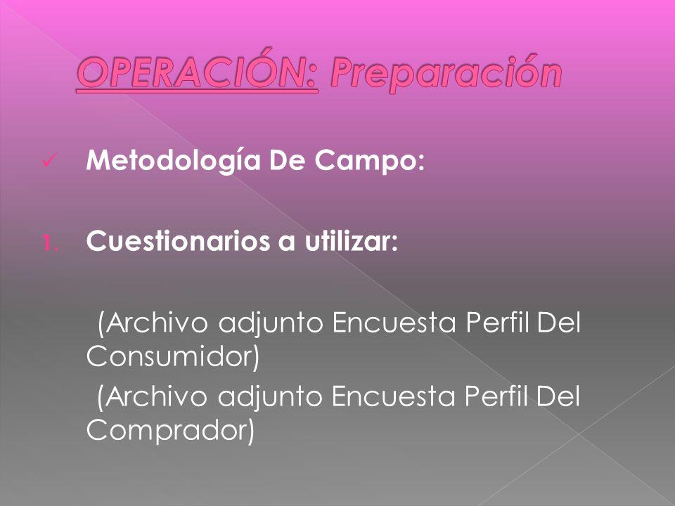 Metodología De Campo: 1.